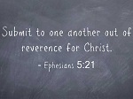 Submit to one another
